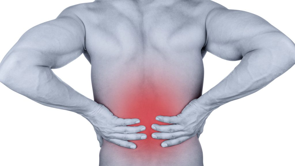 Lower back pain that radiates to the buttocks